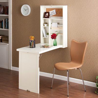 Fold Down Desk - White