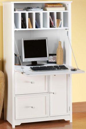 Office Cupboard - White